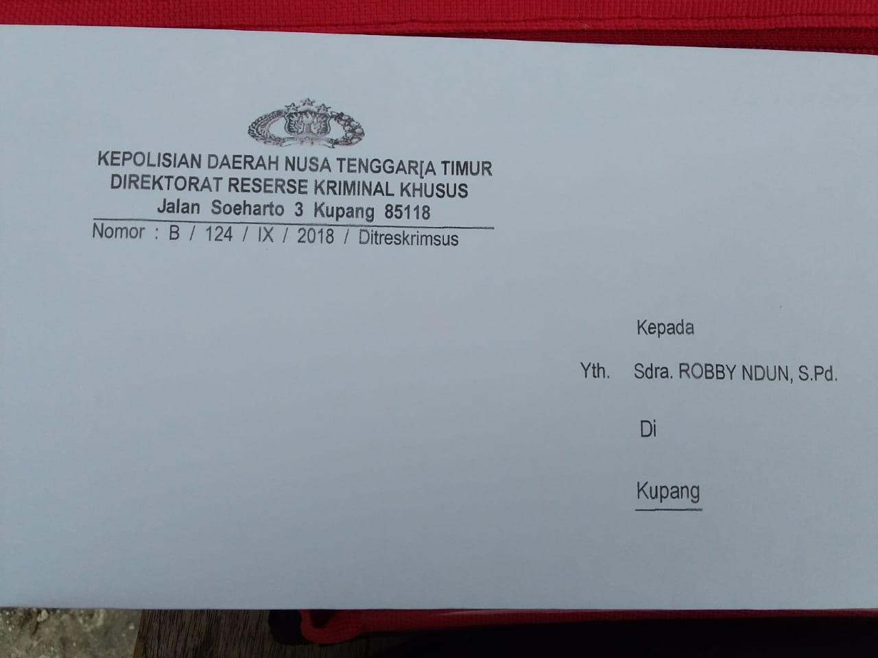 Tipikor Polda NTT Akan Periksa Robby Ndun Manajer BOS Kota Kupang?