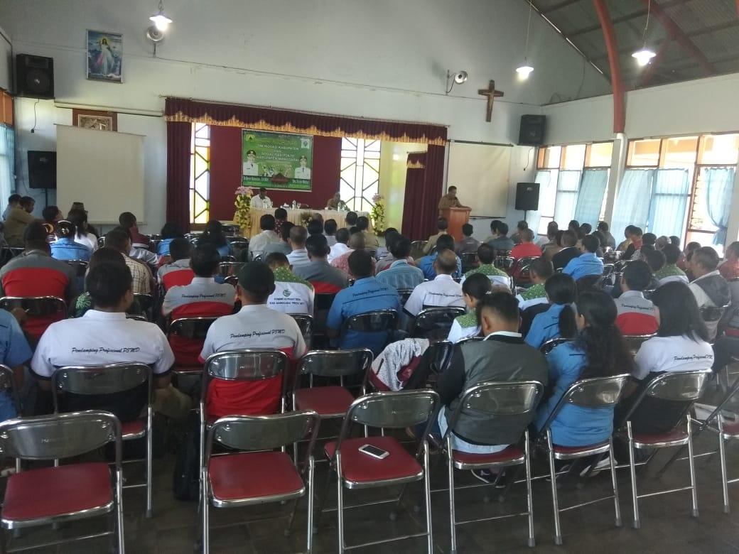 Rapat Koordinasi TIK Dan Sosialisasi P2KTD Kabupaten Manggarai Dihadiri Bupati Kamelus Deno
