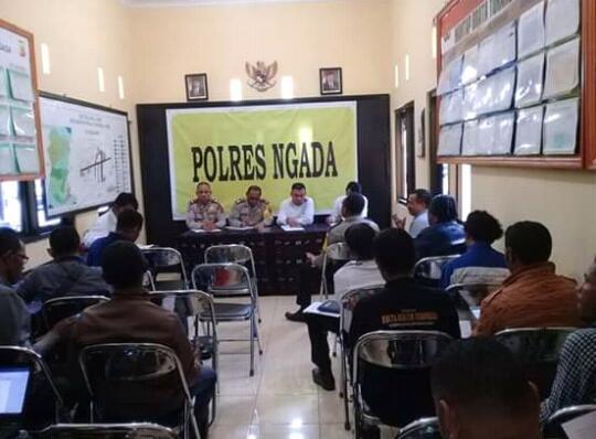 Menuju Pesta demokrasi 2019, Polres Ngada, Wartawan dan Admin Group Siap Berantas HOAX