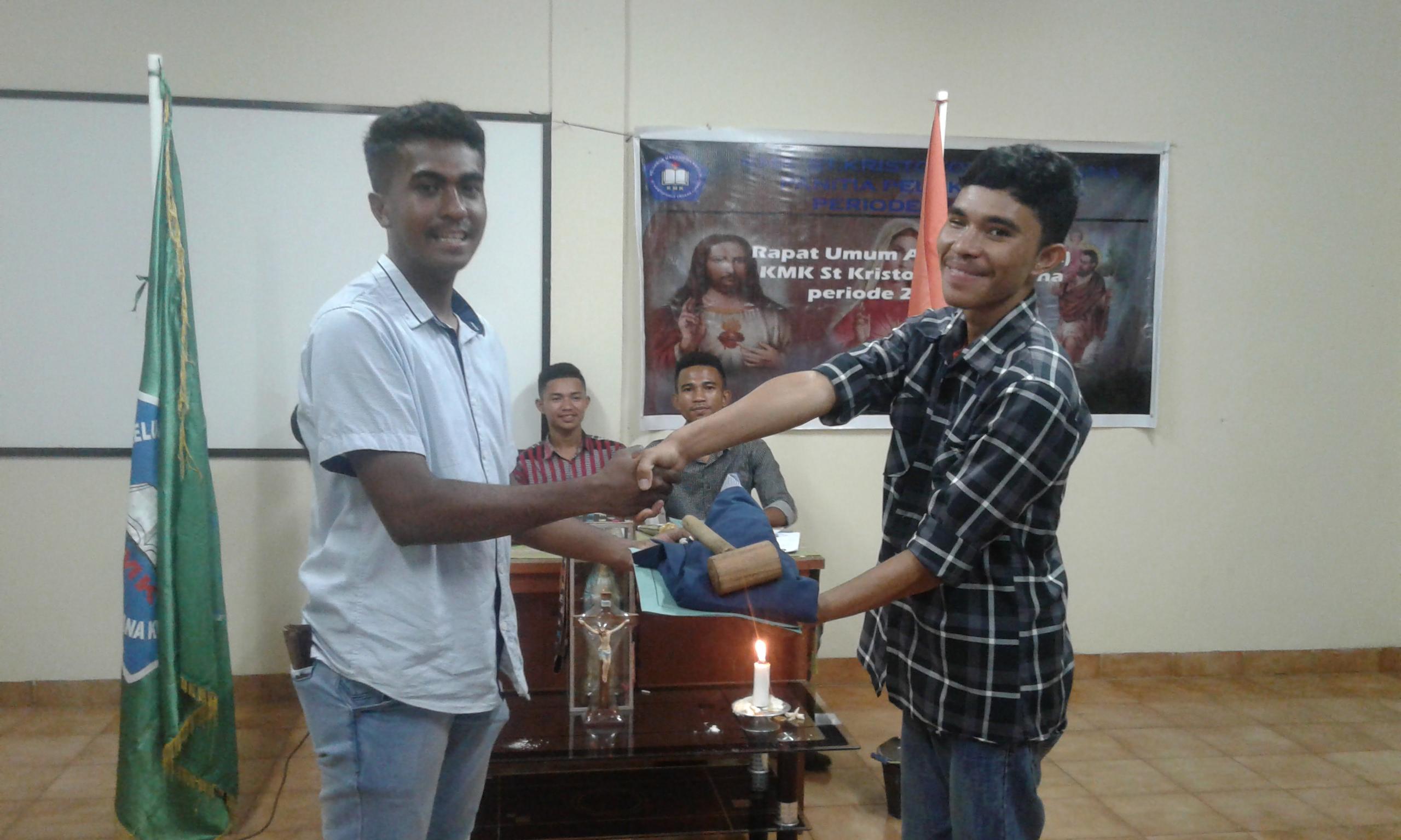 Gaudensius Koten Nahkodai KMK St. Kristoforus Kampus B Undana Kupang Periode 2018/2019