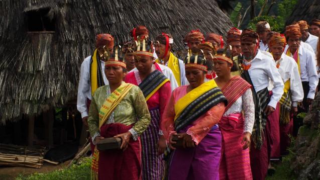 Upacara Adat Penti di Waerebo Manggarai